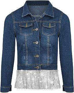 By Alina Mexton Damen Jeansjacke Jeans Kurzjacke Blazer Destroyed Spitze XS 34