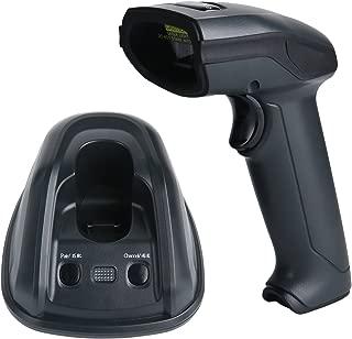 TaoHorse Wireless Barcode Scanner with USB Cradle Receiver Charging Base 433Mhz Handheld 1D Laser Bar Code Reader for Inventory POS PC Laptop, 1312ft/400m Long Range Transmission