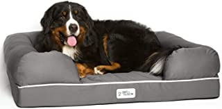 """PetFusion Extra Large Dog Bed w/Solid 4"""" Memory Foam, Waterproof Liner, YKK Premium Zippers. [Ultimate Lounge 44x34x10"""" - ..."""