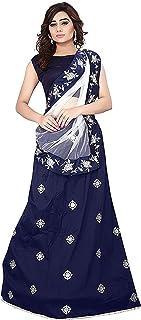 Ethnicset Semi Stitched Lehenga Choli For Women (Blue)