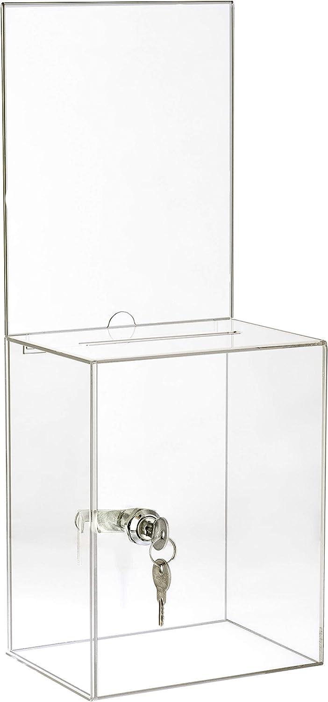 Max 54% OFF AdirOffice Tall Acrylic Suggestion Donation Wall Mountable Box - Max 90% OFF