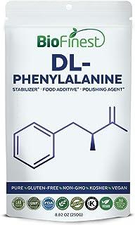 BioFinest Dl-Phenylalanine Powder - Pure Gluten-Free Non-Gmo Kosher Vegan Friendly - Supplement For Mood Management, Relax, Brain Health, Energy Support (250G)