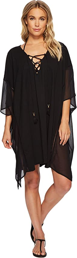 Tommy Bahama - Cotton Modal Lace-Up Tunic Cover-Up