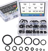 Glarks 320Pcs Carbon Steel Compression Type Wavy Wave Crinkle Spring Washers Assortment Kit