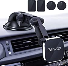 Magnetic Phone Car Mount, Panvox Universal Dashboard Windshield Car Phone Mount Holder with Upgraded 3.2