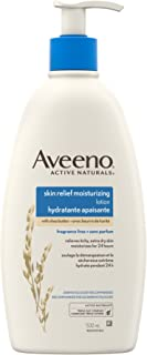 Aveeno Body Lotion with Pump, Active Naturals Moisturizing Cream for Dry Skin, Shea Butter and Oat, 532mL