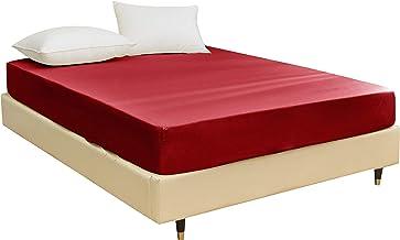 STRATO BEDDING - prześcieradło z gumką z mikrofibry (150 cm x 200 cm z kieszenią o rozmiarze 35 cm) na łóżko typu king-siz...