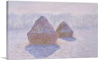 ARTCANVAS Haystacks - Effect of Snow and Sun 1891 Canvas Art Print by Claude Monet - 18