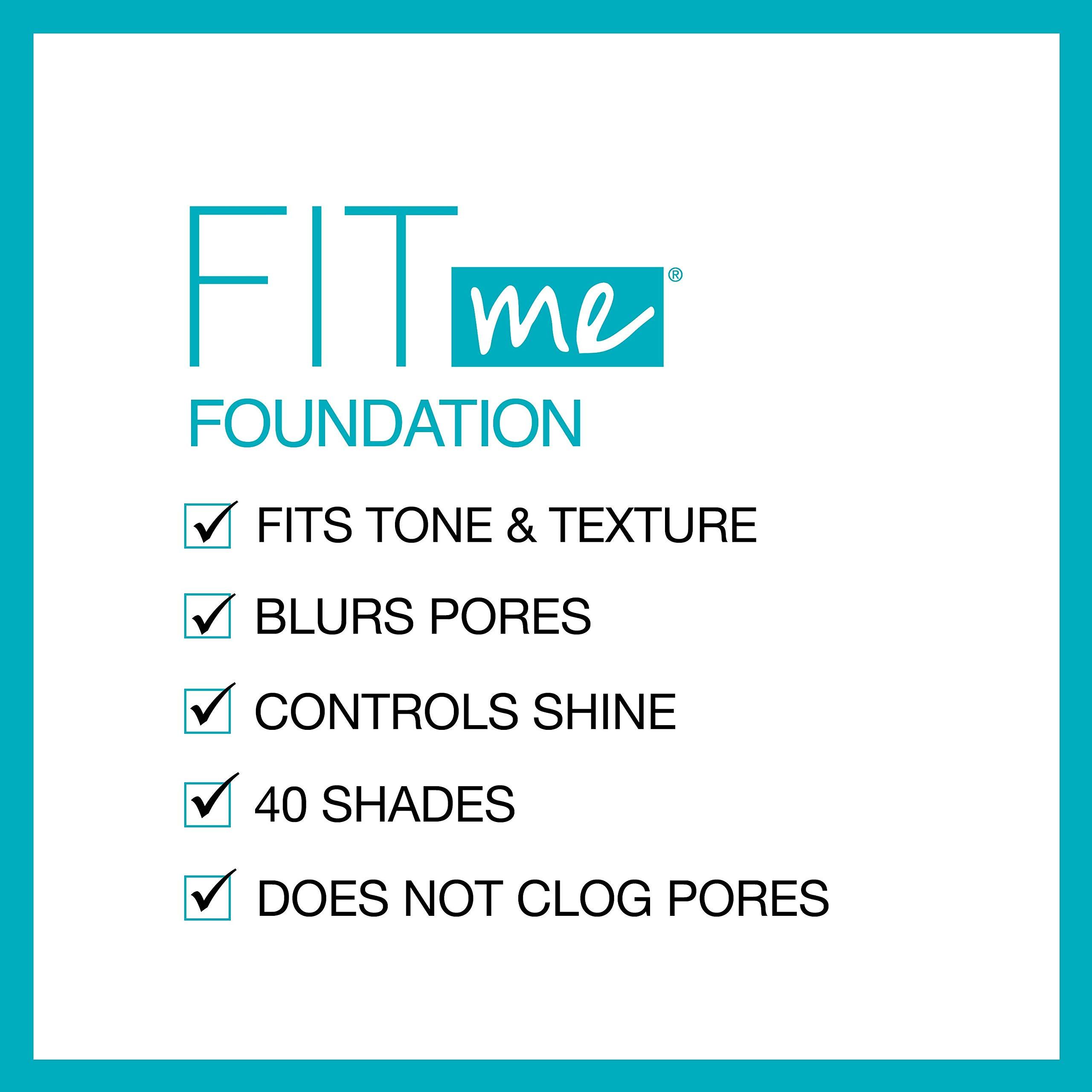 Maybelline Fit Me Matte + Poreless Liquid Foundation Makeup, Fair Porcelain, 1 fl; oz; Oil-Free Foundation