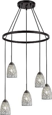 Woodbridge Lighting 13228MEB-M20CLR Chandelier, Bronze