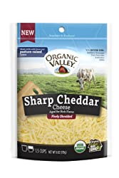 Organic Valley, Organic Finely Shredded Sharp Cheddar Cheese - 6 oz Bag