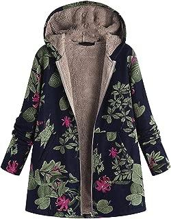 Triskye Womens Winter Warm Casual Coats Retro Rivet Parkas Zipper Up Overcoat Notched Outwear Bomber Lightweight Jackets