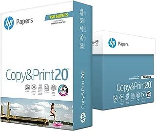 HP Printer Paper, Copy and Print20, 8.5 x 11 Paper, Letter Size, 20lb Paper, 92 Bright, 3,000 Sheets / 4 Ream Carton (200030C) Acid Free Paper