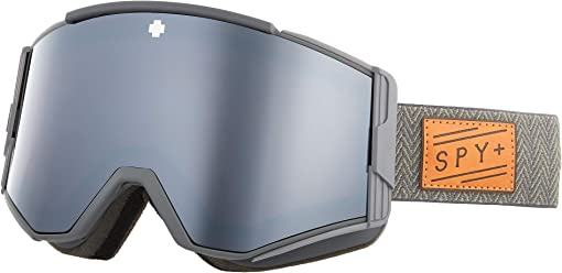 Herringbone Gray - Hd Plus Bronze w/ Silver Spectra Mirror + Hd