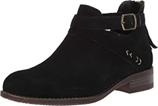 Skechers Women's Sepia-Short Buckled Strap Bootie with Air Cooled Memory Foam Ankle Boot