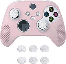 eXtremeRate PlayVital Sakura Pink 3D Studded Edition antiderrapante capa de silicone para controle Xbox Series X, protetor...