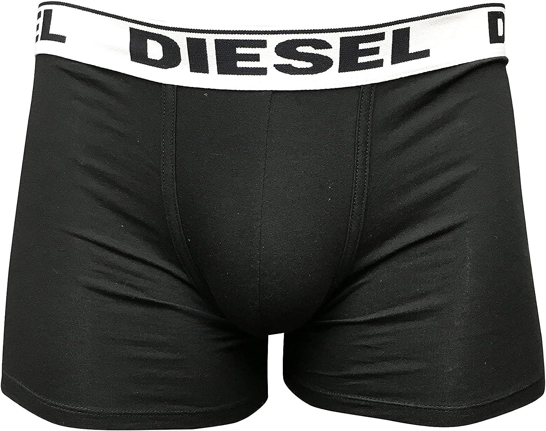 Diesel Men's Underwear Cotton/Elastane Blend Stretch Cotton, 3 Long Boxer Trunk