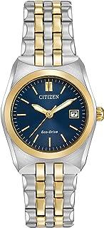 Citizen Eco-Drive Corso Quartz Womens Watch, Stainless Steel, Classic, Two-Tone (Model: EW2294-53L)