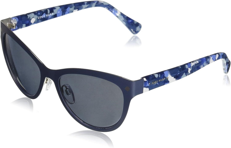 Cole Haan Women's Ch7025 Plastic Cateye Sunglasses, 56 mm