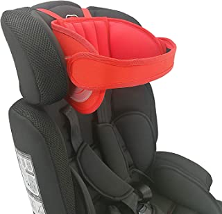 Adjustable Child Car Seat Head Support, Universal Suitable for Both Children and Adults, Head Protect Pad on Child Car Seat, Safety Car Sleeping Headrest for Child, Infants, Toddlers and Adults (Red)