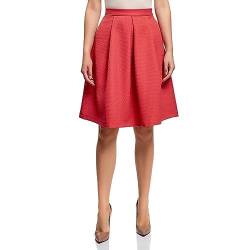 1e0641164e062 oodji Ultra Mujer Falda Acampanada de Tejido Texturizado