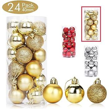 Aitsite Bolas de Navidad 4 cm Bolas de árbol de Navidad Adorno de ...