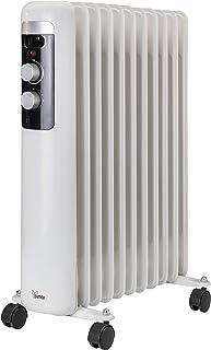 Bimar Radiador Elèctrico de Aceite de Bajo Consumo HO411 con 11 Elementos y 5 Canales de Circulación, Termostato Ajustable, 3 Potencias de Calentamiento, Fácil Transporte Gracias a las Ruedas y Mango