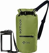 کیسه خشک و ضد آب Earth Pak با جیب جلو Zippered ، دنده را برای استفاده در کیکینگ ، ساحل ، قایق سواری ، قایقرانی ، پیاده روی ، کمپینگ و ماهیگیری با تلفن ضد آب محافظت می کند