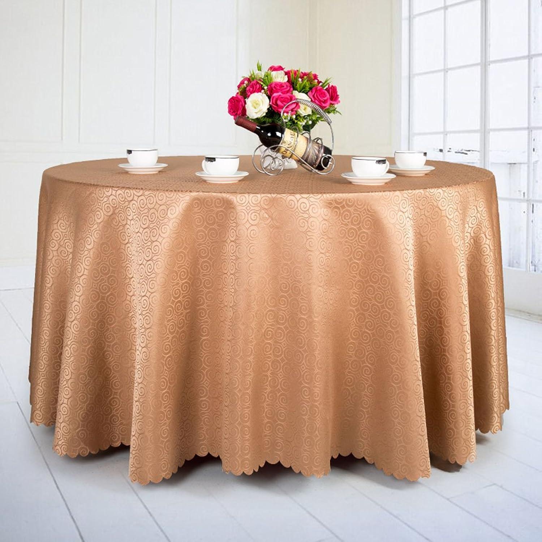 Qiao jin Tischdecke Runde Tischdecke Tischdecke - Hotel Living Room Tischdecke - Hochzeit Tischdecke Camping SS + (Farbe   C, gre   Round- 260cm)