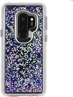 Case-Mate - Samsung Galaxy S9+ Case - GLOW WATERFALL - Glow in The Dark - Cascading Liquid Glitter - Protective Design - Purple Glow