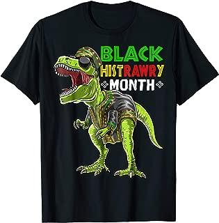 Black History Month T Rex Dinosaur African Dashiki Shirt