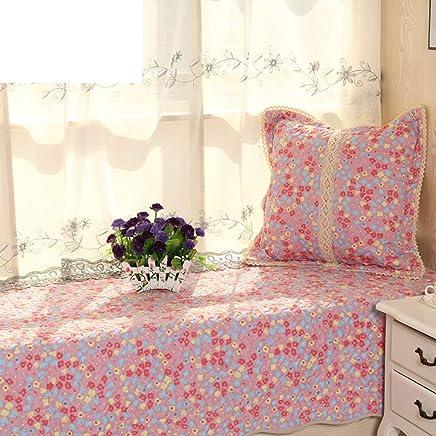 Grafelstein Plaid Vintage rosa Powder Shabby chic Decke aus Baumwolle Steppplaid Landhaus