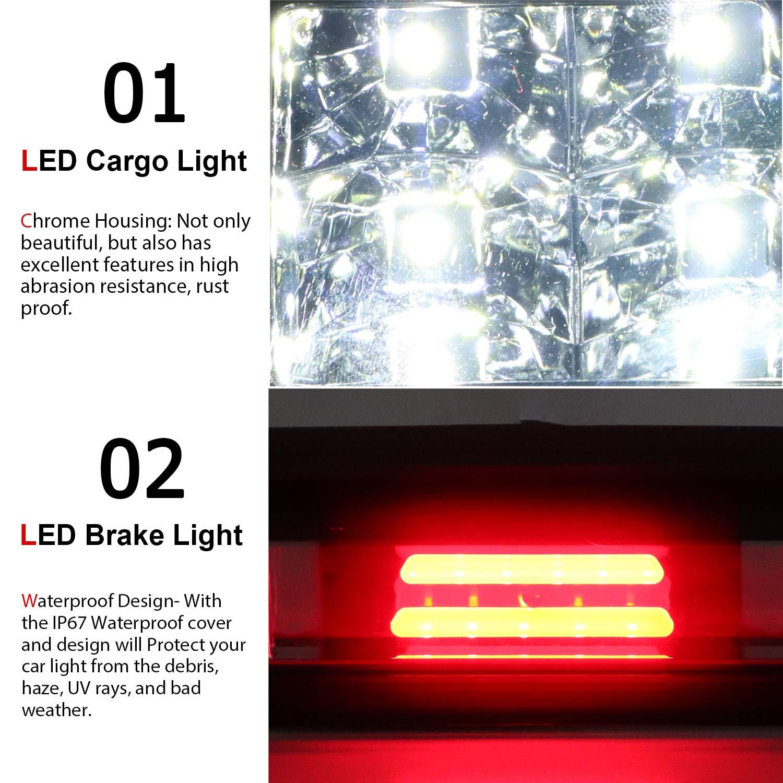 LED Third 3rd Brake light for 04-08 Ford F150 07-10 Ford Explorer 06-08 Lincoln Mark LT, Rear Cargo Lamp High Mount Stop light (Smoke)