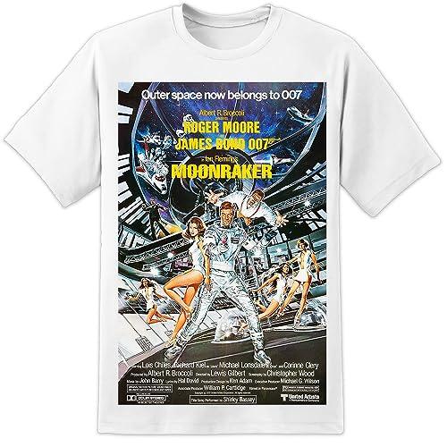a1b30d13d DPX-1 James Bond 007 Retro Moonraker Movie Poster T Shirt (S-3XL
