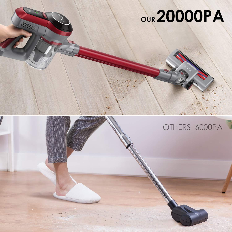Muzili Aspiradora sin Cable Vertical, 20000Pa Aspiradora de mano ...