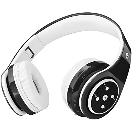 Bluetooth Headphones for Kids, 85db Volume Limited, up to 6-8 Hours Play, Stereo Sound, SD Card Slot, Over-Ear and Build-in Mic Wireless/Wired Headphones for Boys Girls(Black)