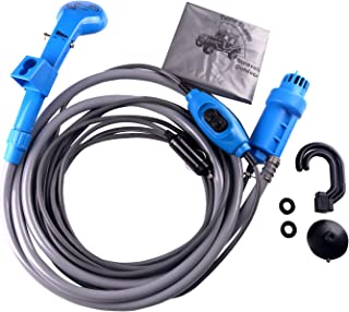 LIEBMAYA 12V car Cigarette Lighter Portable Shower Electrical Pump for Outdoor Camping Car Washing Dog Cleaning Blue
