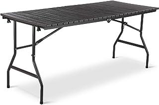 Femor Table Pliante, 166cm Table de Pique Nique Pliante, Table de Jardin Pliable, Panneau en Plastique HDPE, Imperméable, ...