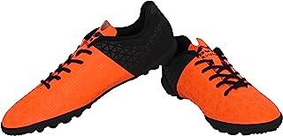 Nivia Aviator 102705 Football Futsal Shoes, UK 10 (Orange/Black) (1027OB)