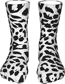 Szipry, Calcetines deportivos unisex con patrón de leopardo de la nieve, transpirables, suaves, de cuarto, de longitud corta, para hombre y mujer, para correr