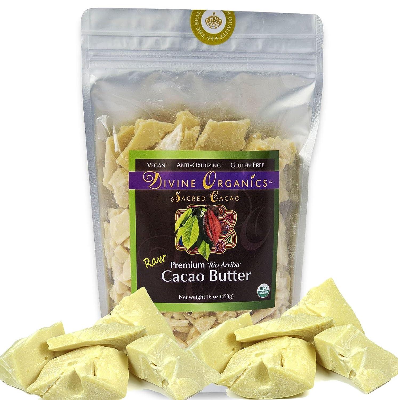 Divine Organics, Cacao Butter Raw Organic, 16 Ounce