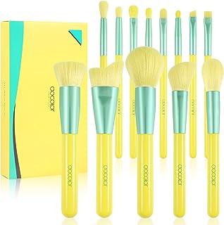 Docolor Makeup Brush Set 13Pcs Lemon Makeup Brushes Christmas Gift Premium Synthetic Kabuki Foundation Blending Face Powde...