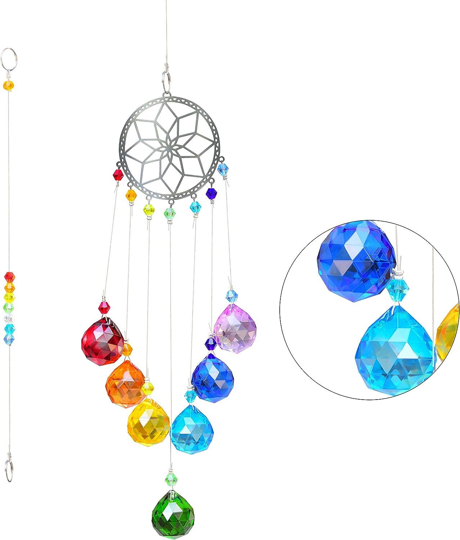 VAINECHAY Crystal Suncatcher Rainbow Garden - Portland Super special price Mall Window Suncatchers