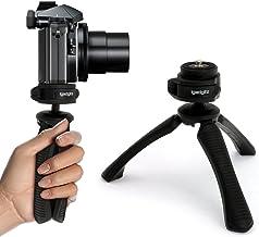 iGadgitz U4330 Mini Ligera Trípode de Mesa & Mano Estabilizador Compatible con Cámara Digital, Réflex Digital, Cámara de Vídeo y Videocámara – Negro