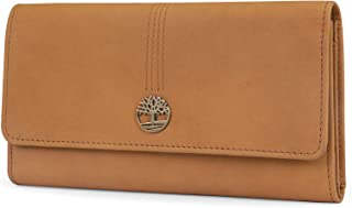 Timberland Womens Leather RFID Flap Wallet Cluth Organizer