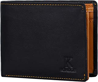 K London Canterbury Men's Black Leather Wallet