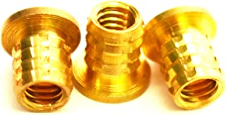 Injection Mold Type J/&J Products # 8-32 Brass Insert Length 0.35 inches Female Thread 100 pcs