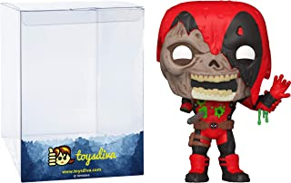 Zombie D͏eadpo ol: Funk o Pop! Vinyl Figure Bundle with 1 Compatible 'ToysDiva' Graphic Protector (661 - 49126 - B)