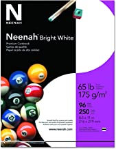 "Neenah Bright White Cardstock, 8.5"" x 11"", 65 lb/176 gsm, 250 Sheets (91904)"