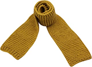 Kids Knitted Scarf Fashion Solid Color Toddler Soft Warm Scarves Neck Warmer,Yellow